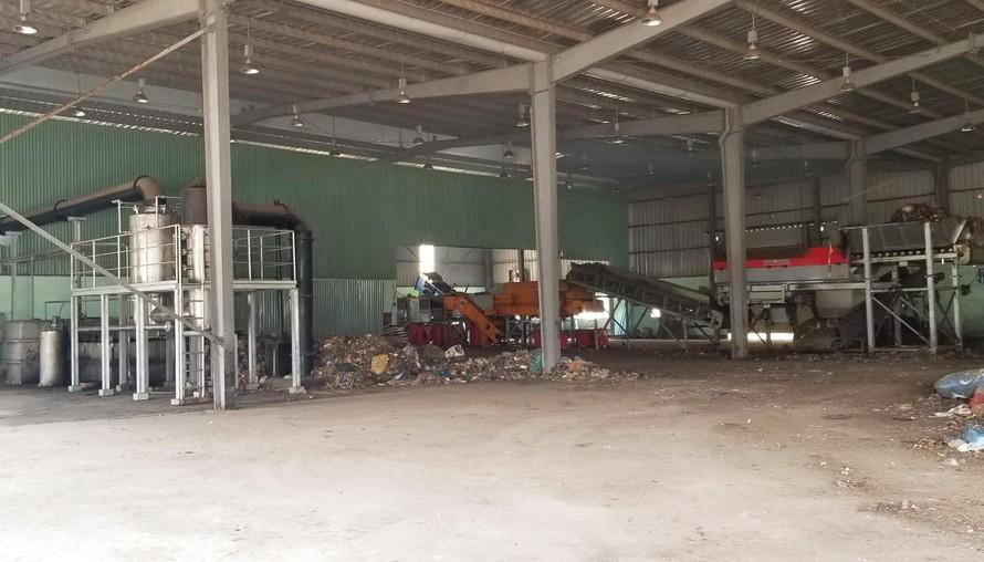 Máy móc, trang thiết bị tại nhà máy xử lý rác không hoạt động