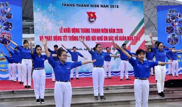 Trung ương Đoàn tổ chức Lễ khởi động Tháng Thanh niên 2018 ngày 25/02, tại Quảng Ninh. Ảnh Đông Hà