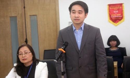 Tân Phó Chánh văn phòng Ban chỉ đạo 389 Vũ Hùng Sơn. Ảnh: Văn phòng Bộ Công thương
