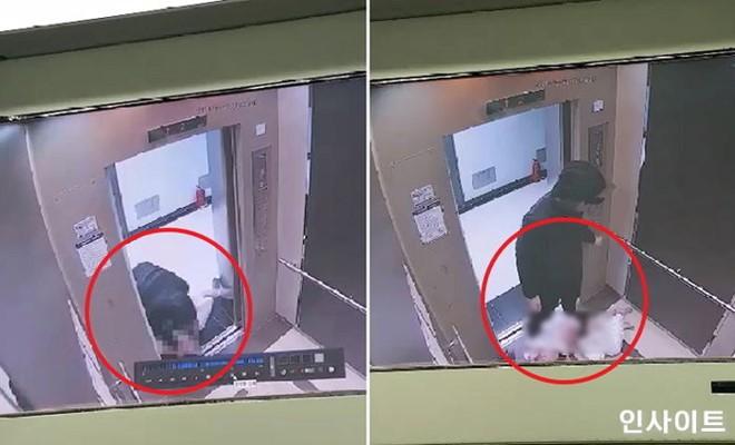 Hành động dã man của nam thanh niên được CCTV ghi lại. Ảnh cắt từ clip.