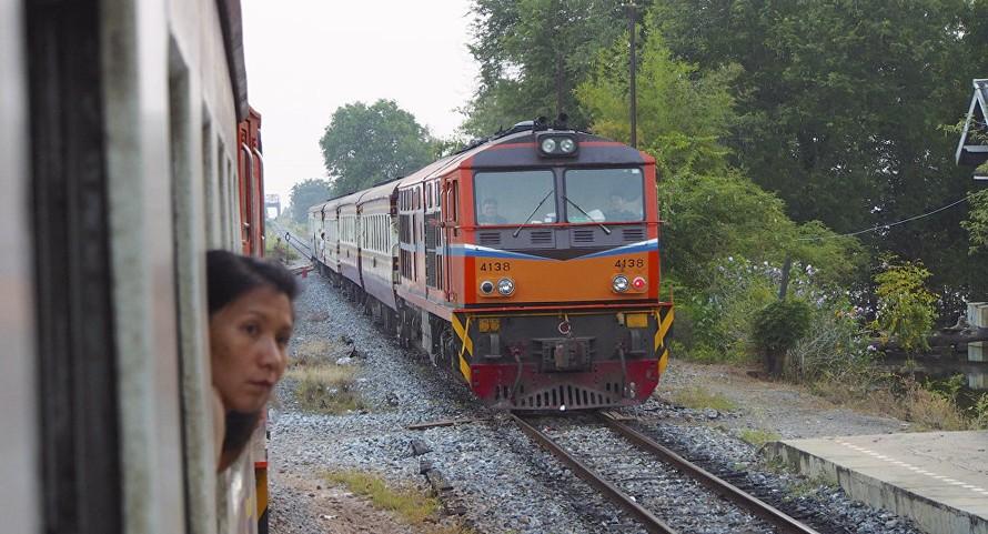 Một chuyến tàu ở Aranyaprathet của Thái Lan