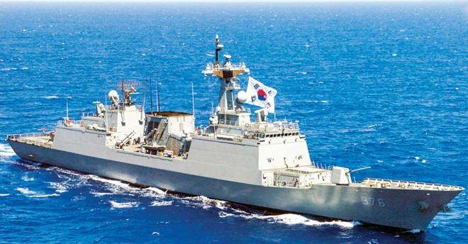 Tàu khu trục Munmu đại đế của Hải quân Hàn Quốc Ảnh: Defense Post