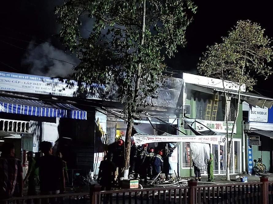 Hiện trường vụ cháy. Nguồn ảnh: Facebook