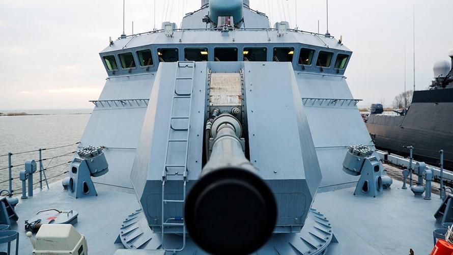 Nga điều 2 tàu chiến đến Địa Trung Hải. Ảnh: Tass