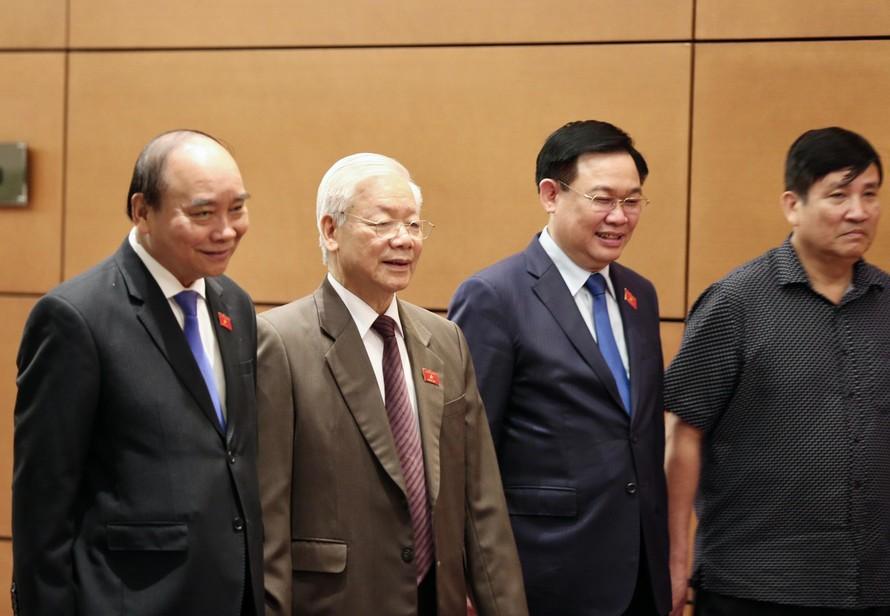 Lãnh đạo Đảng, Nhà nước tại kỳ họp Quốc hội. Ảnh Như Ý