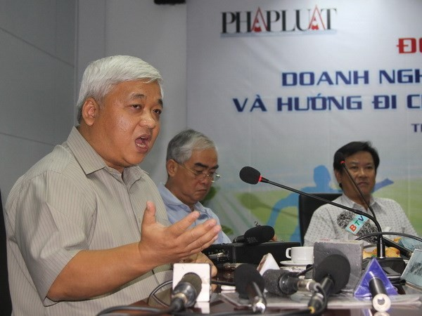 """""""Bầu"""" Kiên trong một sự kiện tháng 9/2011. (Ảnh: Quang Nhựt/TTXVN)"""