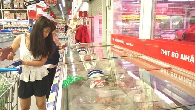 Việt Nam chủ yếu nhập khẩu thịt bò từ Australia và Mỹ.