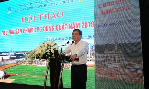 Phó Tổng giám đốc PVN Nguyễn Sinh Khang phát biểu chỉ đạo tại hội thảo
