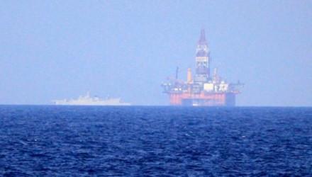 Giàn khoan Hải Dương 981 của Trung Quốc đặt trái phép trên vùng biển của Việt Nam.