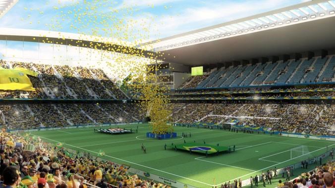 Sao Paulo đã sẵn sàng cho lễ khai mạc đậm chất Brasil. Ảnh: Coffeeticks