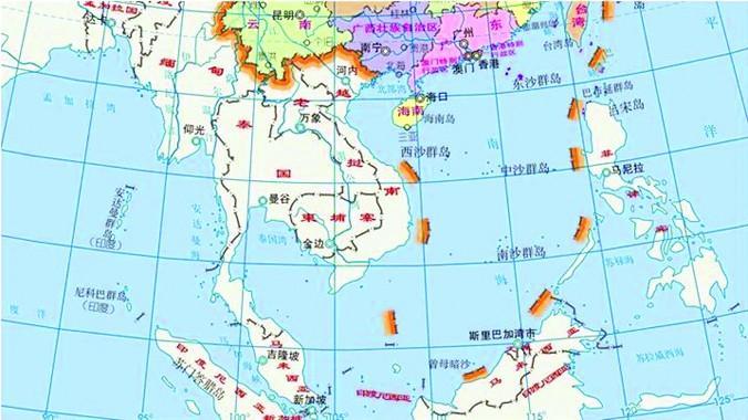 """Tấm bản đồ khổ dọc mới vẽ Đường 10 đoạn bị học giả Trung Quốc cho là """"trò trẻ con"""""""