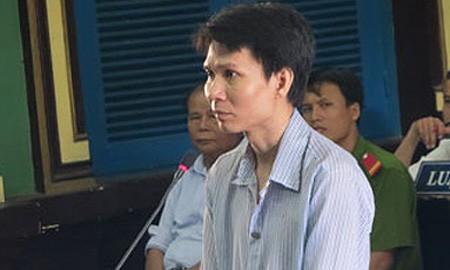Bị cáo Lê Trung Hiếu tại phiên tòa