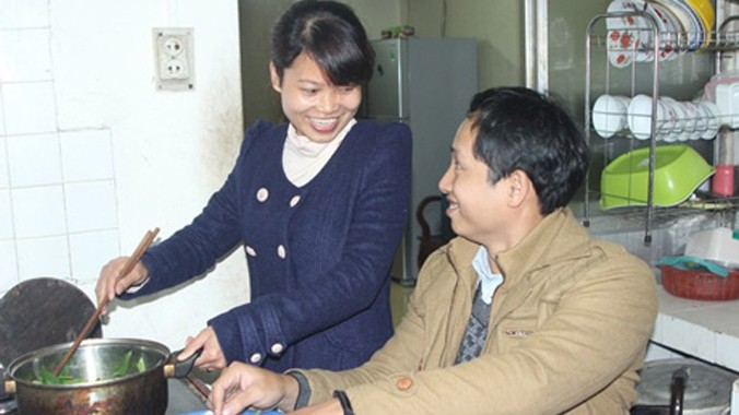 Cuộc sống hạnh phúc của chị Nhung và anh Mai Anh. Ảnh: P.B.