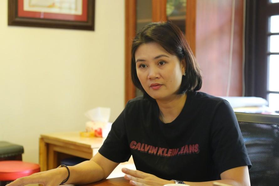 HLV Phạm Thị Kim Huệ cho rằng quyết định kỷ luật của VFV đối với cô và 3 VĐV Ngân hàng Công thương thiếu cơ sở. (ảnh Anh Tú)