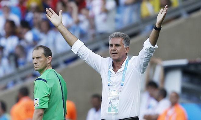 Queiroz phàn nàn về công tác trọng tài.