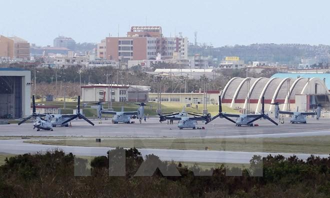 Một căn cứ không quân của Mỹ tại Nhật Bản. Nguồn: AFP/TTXVN.