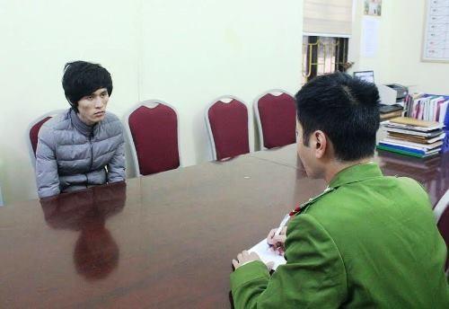 Nguyễn Văn Thọ tại cơ quan điều tra. Ảnh: V.T