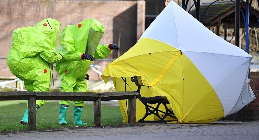 Hiện trường phát hiện hai cha con cựu điệp viên Nga Skripal bị đầu độc. Ảnh: AFP